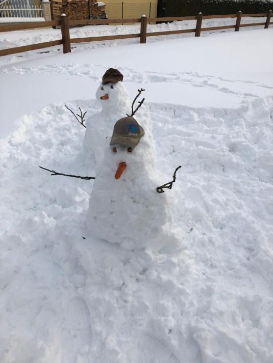 Bonhomme de neige casquette TM
